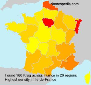 Surname Krug in France