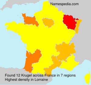 Surname Krugel in France