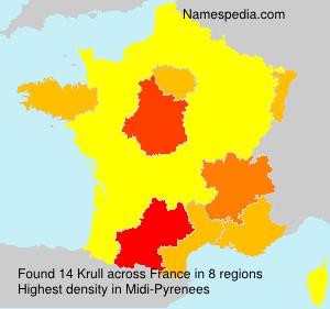 Surname Krull in France