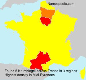 Familiennamen Krumbiegel - France