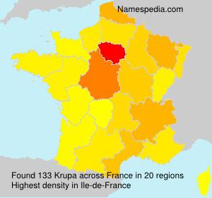 Surname Krupa in France