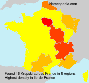 Familiennamen Krupski - France