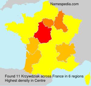 Surname Krzywdziak in France