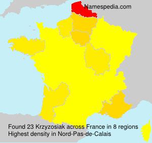 Surname Krzyzosiak in France