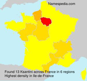 Surname Ksantini in France