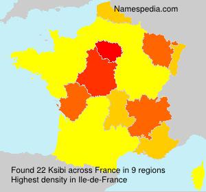 Surname Ksibi in France