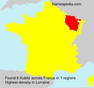 Familiennamen Kubitz - France