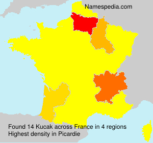 Familiennamen Kucak - France