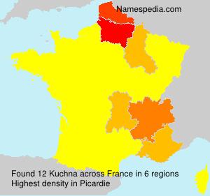 Familiennamen Kuchna - France