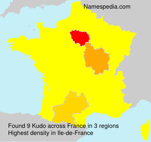 Surname Kudo in France