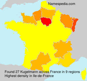 Familiennamen Kugelmann - France