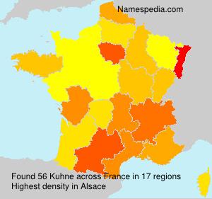Familiennamen Kuhne - France