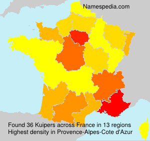 Surname Kuipers in France