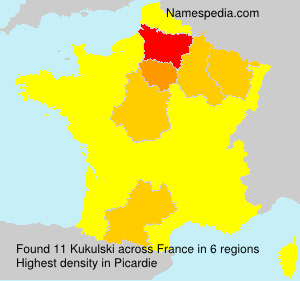 Surname Kukulski in France