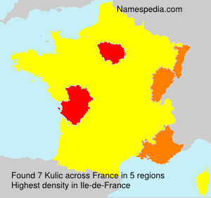 Surname Kulic in France