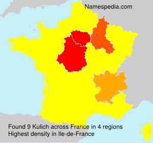 Surname Kulich in France