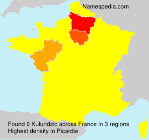 Surname Kulundzic in France