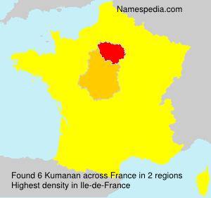 Surname Kumanan in France
