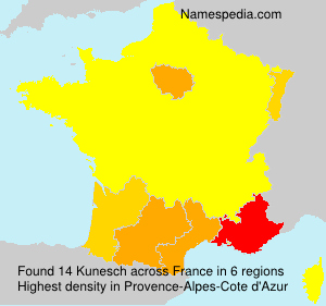 Surname Kunesch in France