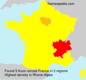 Surname Kuon in France