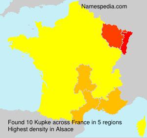 Familiennamen Kupke - France