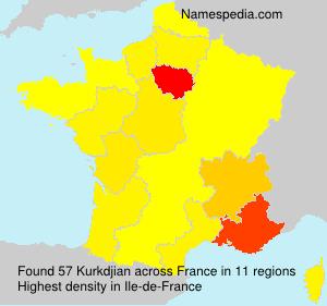 Familiennamen Kurkdjian - France