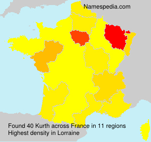 Surname Kurth in France