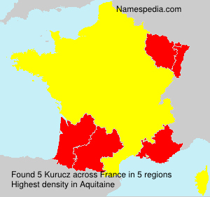 Surname Kurucz in France
