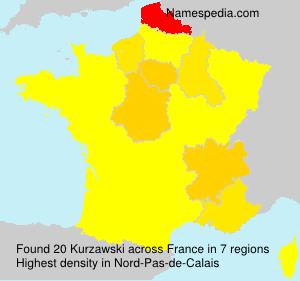 Surname Kurzawski in France