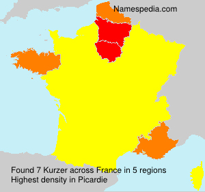 Surname Kurzer in France