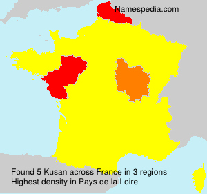 Surname Kusan in France