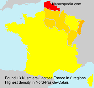 Surname Kusmierski in France