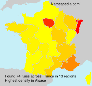 Surname Kuss in France