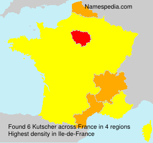 Surname Kutscher in France