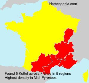 Familiennamen Kuttel - France