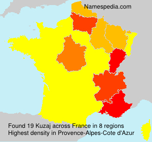 Surname Kuzaj in France
