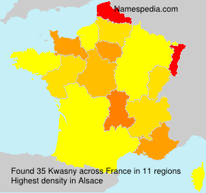 Surname Kwasny in France