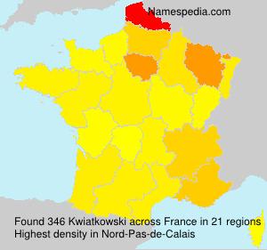Surname Kwiatkowski in France