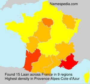 Surname Laan in France