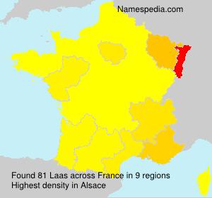 Surname Laas in France