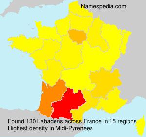 Surname Labadens in France