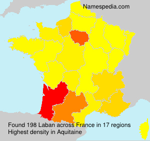 Surname Laban in France