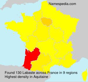 Familiennamen Labaste - France