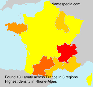 Surname Labaty in France