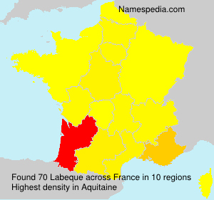 Surname Labeque in France