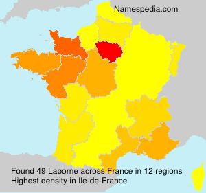 Familiennamen Laborne - France