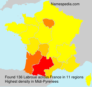Surname Labroue in France