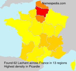 Surname Lachant in France