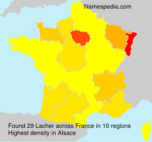 Surname Lacher in France