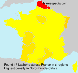 Surname Lacherie in France